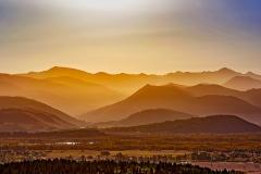 Mountains at Sun Rise